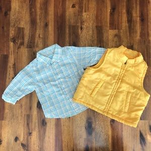 Children's Place Shirt/KHQ Vest Bundle Size 3-6mos